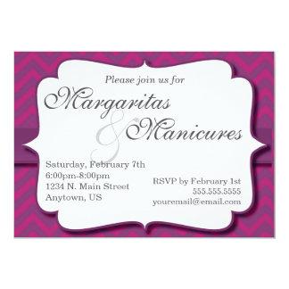 Convite dos Margaritas e dos Manicures Convite 12.7 X 17.78cm