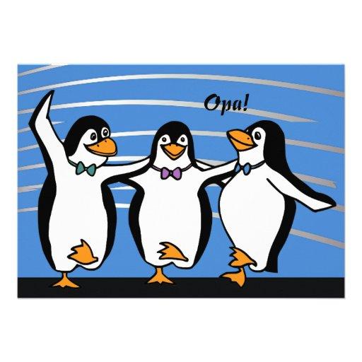 Convite dos pinguins da dança