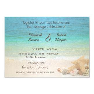 Convite dos Seashells do casamento de praia