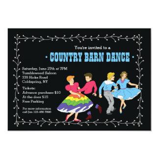 Convite dos sócios de dança quadrada