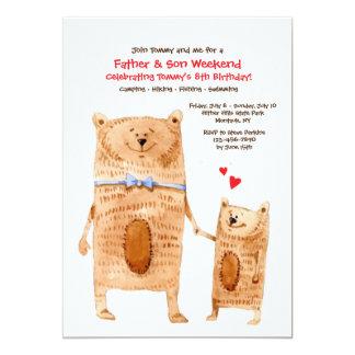 Convite dos ursos do pai e do filho