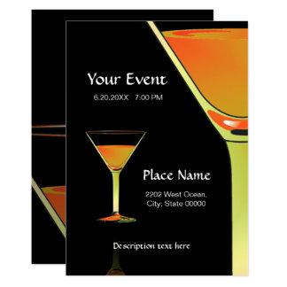 Convite dramático dos cocktail de Martini do ouro
