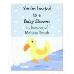 Convite Ducky amarelo do chá de fraldas Convite 10.79 X 13.97cm