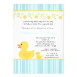 convite Ducky de borracha amarelo do chá de fralda