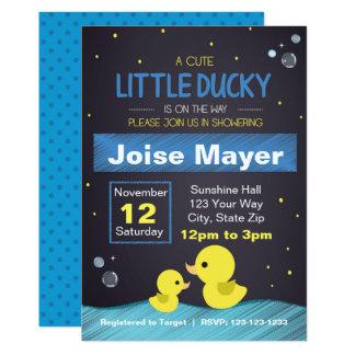 Convite Ducky de borracha do quadro (menino)