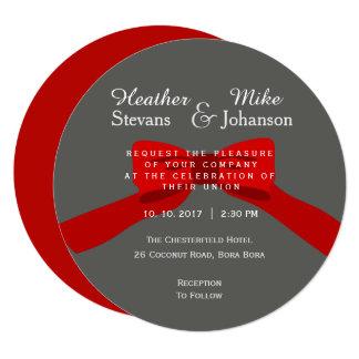 Convite e anúncio modernos elegantes do casamento