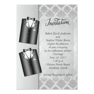 Convite elegante alegre do casamento de prata
