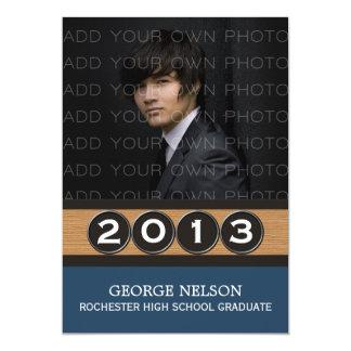 Convite elegante azul da graduação das chaves