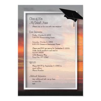 Convite elegante customizável da reunião de classe