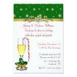 Convite elegante da festa de Natal