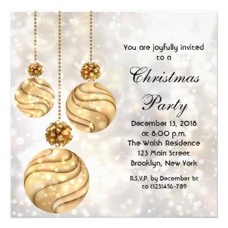Convite elegante da festa de Natal do feriado