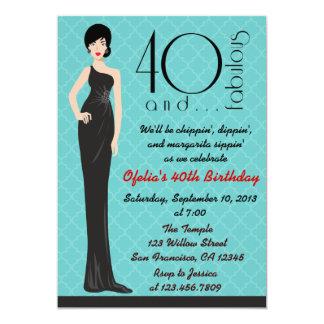 Convite elegante do aniversário de 40 anos