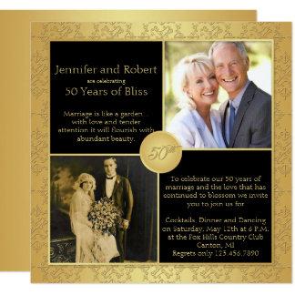 Convite elegante do aniversário de casamento do