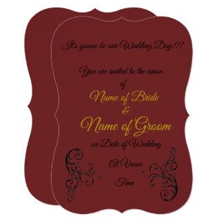 Convite elegante do casamento
