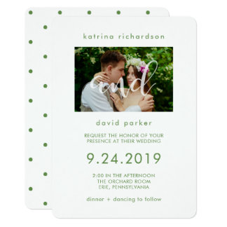 Convite elegante do casamento da foto das