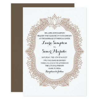 Convite elegante do casamento de Mehndi