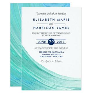 Convite elegante do casamento de praia das marés