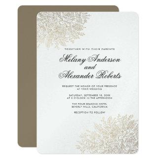 Convite elegante do casamento do laço do vintage