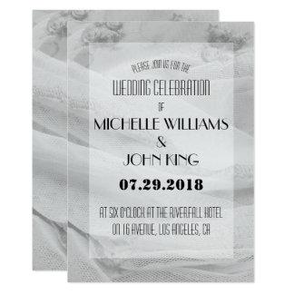Convite elegante do casamento do laço em preto e