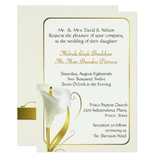 Convite elegante do casamento do lírio de Calla do