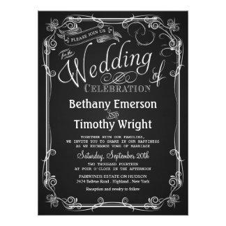 Convite elegante do casamento do quadro