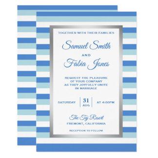 Convite elegante do casamento do teste padrão das