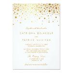 Convite elegante do casamento dos confetes da