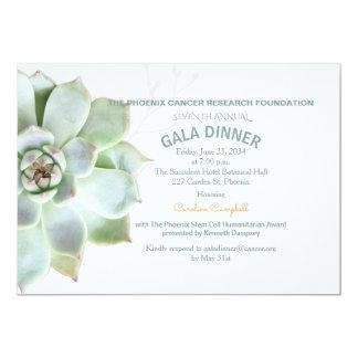 Convite elegante do comensal de gala do Succulent