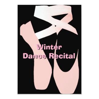 Convite elegante do considerando da dança do balé