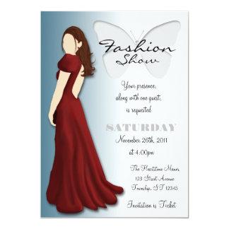 Convite elegante do desfile de moda da borboleta