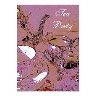 Convite elegante do tea party convite 12.7 x 17.78cm