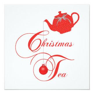 Convite elegante do tea party do Natal do bule