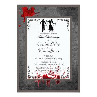 Convite elegante gótico do casamento do zombi