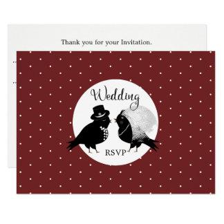 Convite elegante RSVP do noivo bonito da noiva do