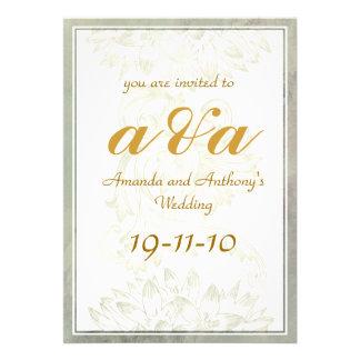 Convite elegante simples do casamento