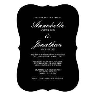 Convite elegante simples do casamento da