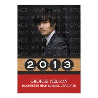 Convite elegante vermelho da graduação das chaves