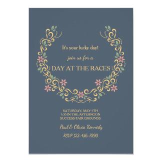 Convite em ferradura floral