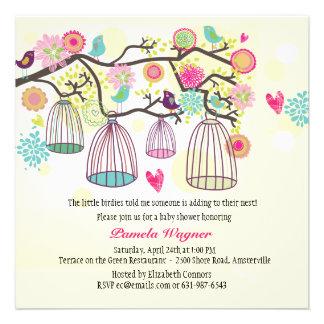 Convite emplumado do primavera dos amigos