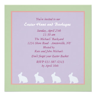 Convite encantador da páscoa dos coelhos