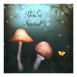 Convite Enchanted do evento do jardim do Toadstool