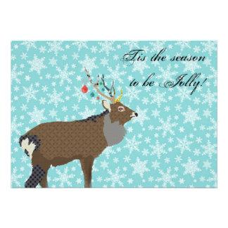 Convite Enchanting do Natal dos alces