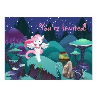 Convite Enchanting mágico do aniversário do