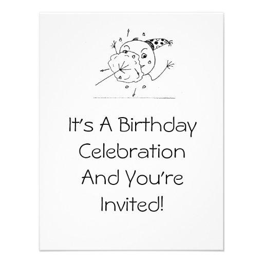 Convite engraçado da celebração do aniversário