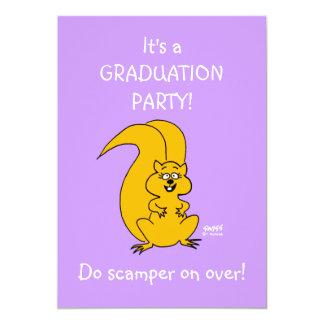 Cartão Convite engraçado da festa de formatura das filhas