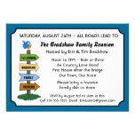 Convite engraçado da reunião de família do Bluebir