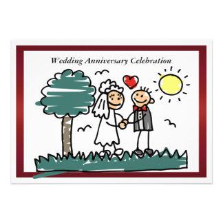 Convite engraçado do aniversário de casamento