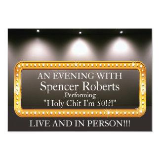 Convite engraçado do aniversário do famoso