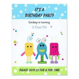 Convite engraçado do aniversário dos monstro
