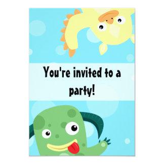 Convite engraçado do aniversário dos monstro dos